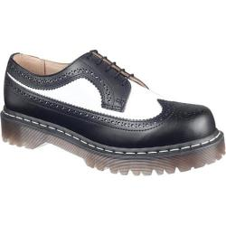 Dr. Martens 3989 5 Eye Brogue Bex Sole Black/White Smooth Leather