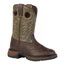 Boys' Durango Boot BT206 8in Rebel Dark Brown/Forest Green