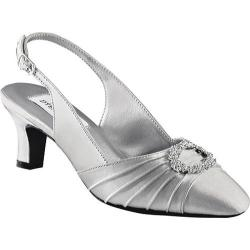 Silver Small Heel Shoes