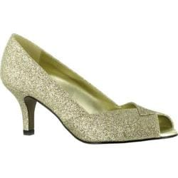 Women's Easy Street Ravish Dance Flex Gold Glitter Polyurethane