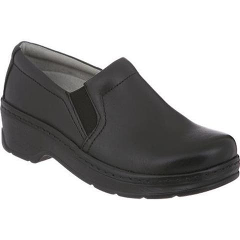 Women's Klogs Naples Black Smooth