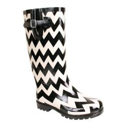 Women's Nomad Puddles Black/White Chevron