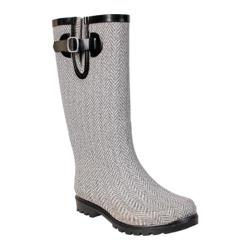Women's Nomad Puddles Grey/White Herringbone