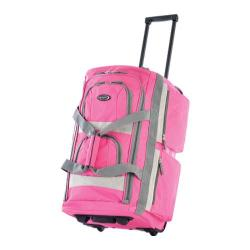 Olympia 26in 8 Pocket Rolling Duffel Hot Pink