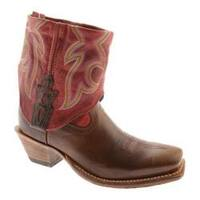 Women's Twisted X Boots WSOC003 Chocolate/Red Leather