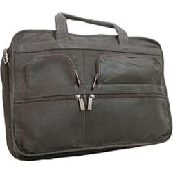 David King Leather 171 Organizer Briefcase Black