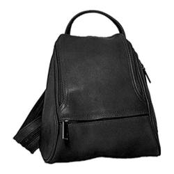 David King Leather 363 Convertible Backpack Sling Black