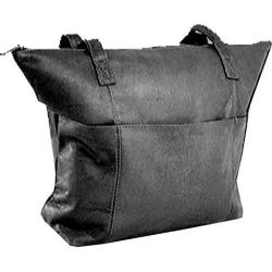 Women's David King Leather 543 Shopping Bag Black