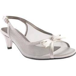 Women's David Tate Prom Silver Mesh/Satin
