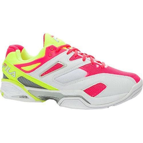 a494ff95c218 Shop Women s Fila Sentinel White Safety Yellow Diva Pink - Free Shipping  Today - Overstock - 9266770