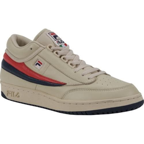 a4de6f00a4b0 Shop Men s Fila T1-Mid Cream Peacoat Chinese Red - Free Shipping Today -  Overstock - 9266805