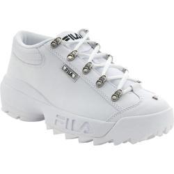 Men's Fila Strada Boot White/Black Leather Synthetic