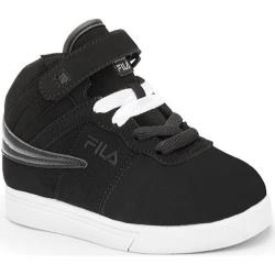 Children's Fila Vulc 13 Black/White/Metallic Silver