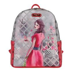 Women's Nicole Lee Daisy Print Backpack Red - Thumbnail 0