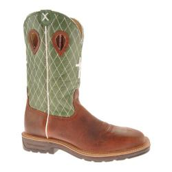 Men's Twisted X Boots MLCS002 Cognac Glazed Pebble/Lime Leather