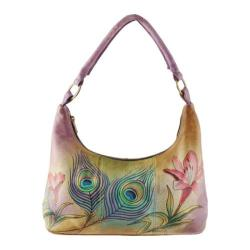 Women's Anuschka Hobo Premium Peacock Flower