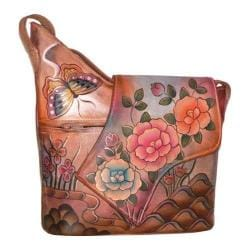 Women's Anuschka Small Asymmetric Flap Bag Premium Rose Antique