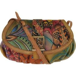 Women's Anuschka Small Ruched Flap Handbag Patchwork Garden