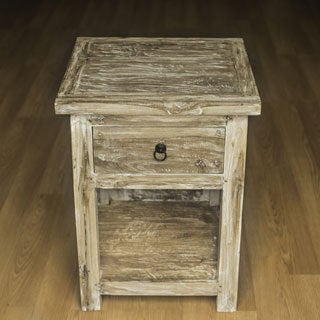 Reclaimed Teak Cantina Bed Side Table (Indonesia)