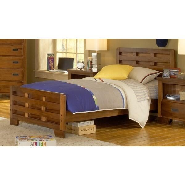 greyson living hardy full size interlocking wood bed with optional trundle storage