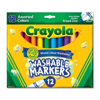 Crayola Washable Markers Broad Point Classic Colors 12/Set