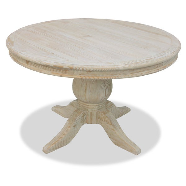 La France 39 Reclaimed Wood Round Distressed Dining Table 15702348