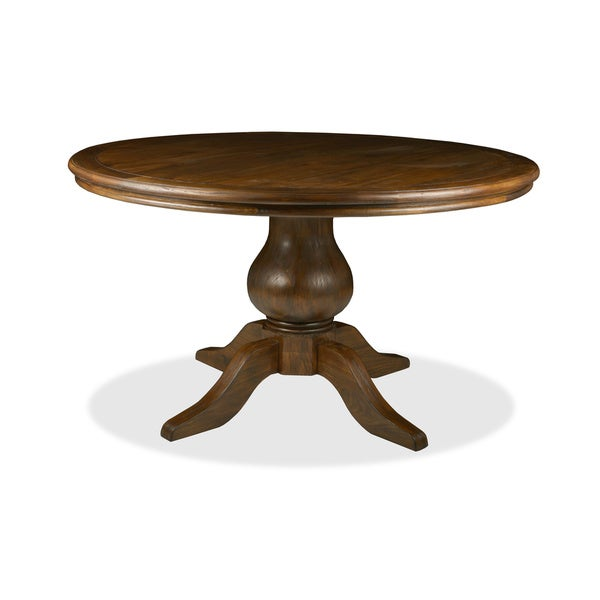 39 la france 39 reclaimed wood round distressed dining table for Distressed round dining table