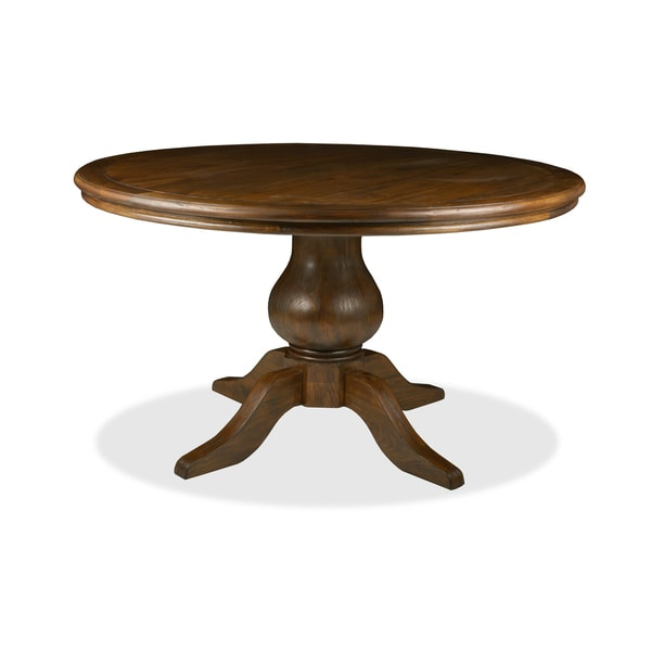 La France 39 Reclaimed Wood Round Distressed Dining Table Free