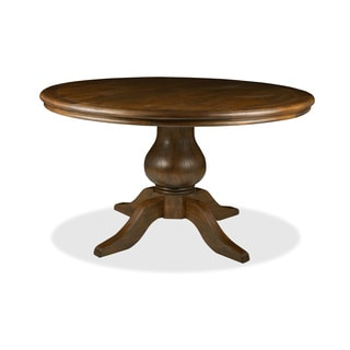 'La France' Reclaimed Wood Round Distressed Dining Table