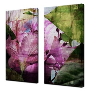 Ready2HangArt 'Hibiscus' 2-piece Oversized Abstract Canvas Wall Art Set