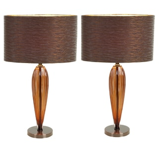 Casa Cortes 25-inch Glass Art Table Lamp Set (Set of 2)