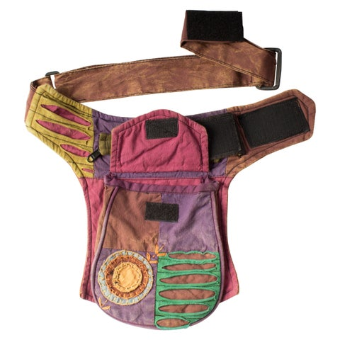 Razor-cut Hippie One-pocket Fanny Pack (Nepal)