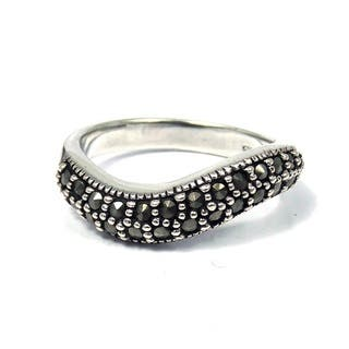 Handmade Contempo Swirl Marcasite Embellished .925 Sterling Silver Ring (Thailand)|https://ak1.ostkcdn.com/images/products/8401728/8401728/Contempo-Swirl-Marcasite-Embellished-.925-Silver-Ring-Thailand-P15702614.jpg?impolicy=medium