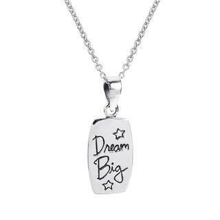 Handmade Inspirational 'Dream Big' Message .925 Silver Necklace (Thailand)