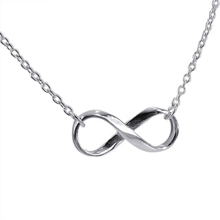 Endless Love Infinity Symbol .925 Sterling Silver Necklace (Thailand)