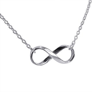 Handmade Endless Love Infinity Symbol .925 Sterling Silver Necklace (Thailand)