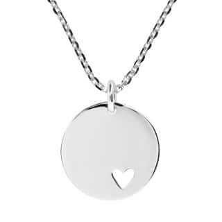 Handmade Endless Love .925 Silver Heart Tag Round Pendant Necklace https://ak1.ostkcdn.com/images/products/8401747/P15702631.jpg?impolicy=medium
