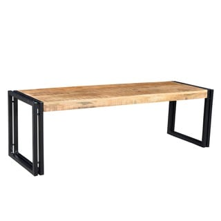 Timbergirl Handmade Reclaimed Wood and Metal Bench (India)