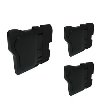 INSTEN Black Cartridge Set for Brother LC-61Bk (Pack of 3)
