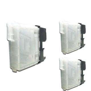INSTEN Black Cartridge Set for Brother LC-65Bk (Pack of 3)