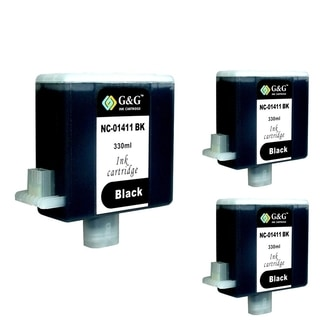 INSTEN Black Cartridge Set for Canon BCI-1411 (Pack of 3)