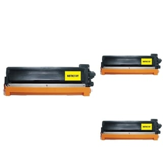 INSTEN Yellow Cartridge Set for Brother TN210 (Pack of 3)