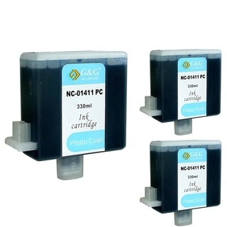 INSTEN Cyan Cartridge Set for Canon BCI-1411C (Pack of 3)