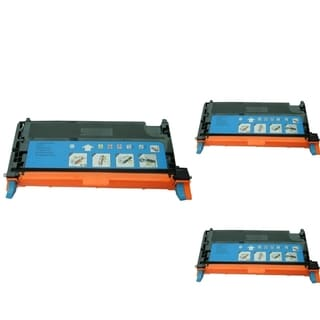 INSTEN Cyan Cartridge Set for Dell 3130 (Pack of 3)