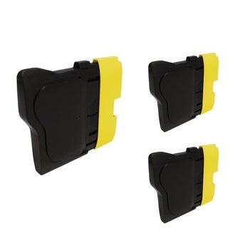INSTEN Yellow Cartridge Set for Brother LC-61Y (Pack of 3)