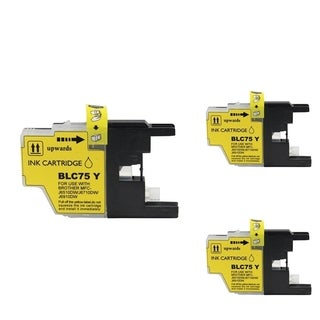 INSTEN Yellow Cartridge Set for Brother LC-71Y (Pack of 3)