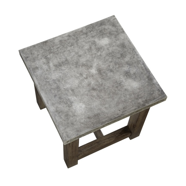 Concrete Chic End Table By Home Styles   Free Shipping Today    Overstock.com   15702858