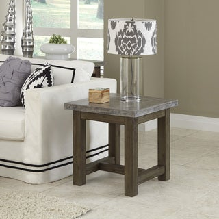 Concrete Chic End Table by Home Styles