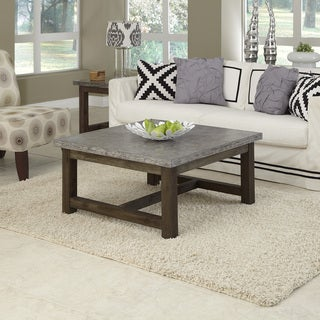Concrete Chic Square Coffee Table by Home Styles