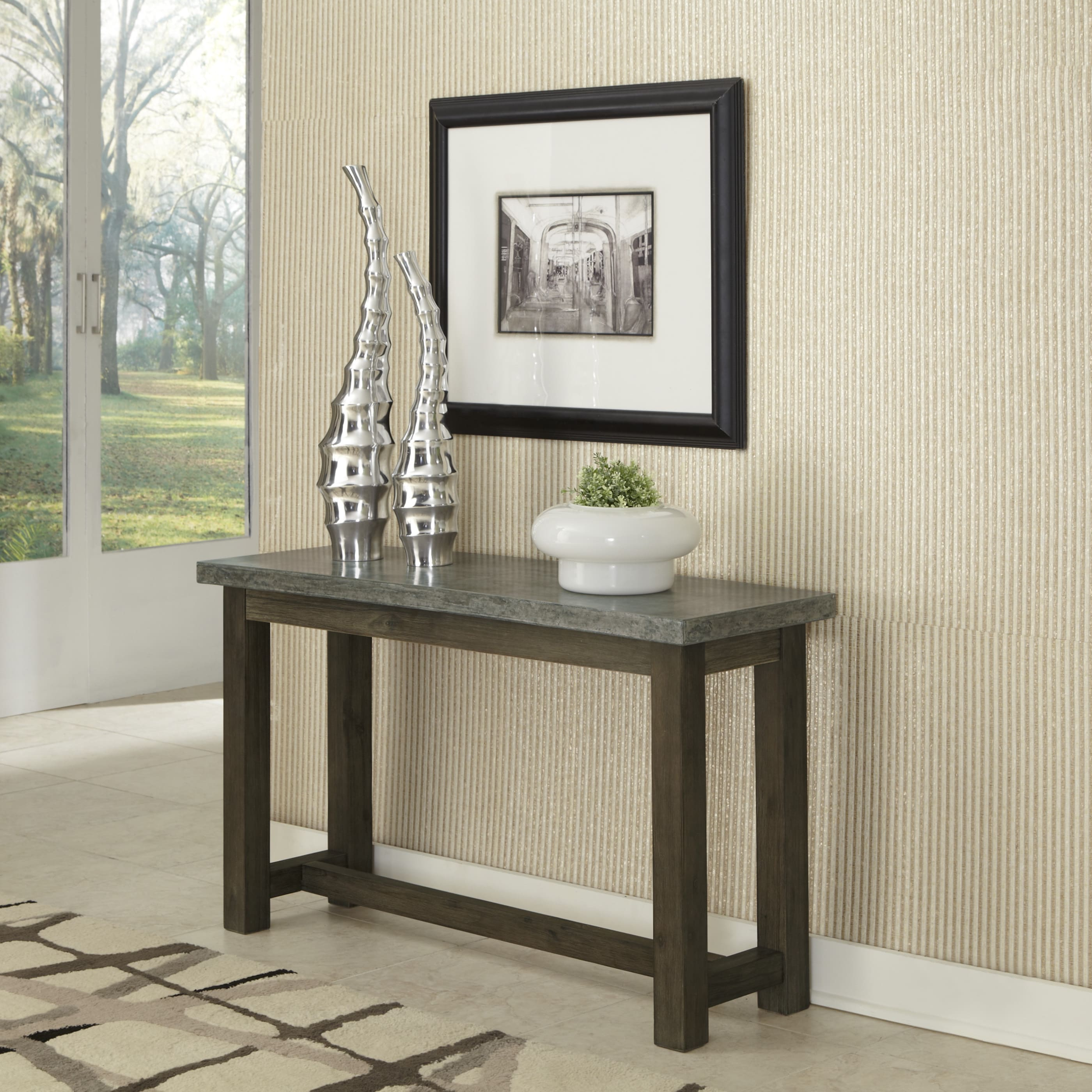 Shop Concrete Chic Console Table By Home Styles Free